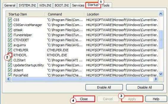 Видаляємо вірус RTHDCPL.exe